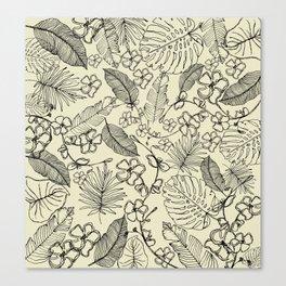 Tropical doodle Canvas Print