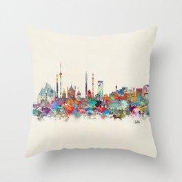 Delhi india skyline Throw Pillow