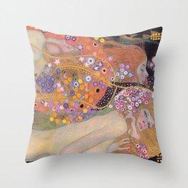 WATER SNAKES - GUSTAV KLIMT Throw Pillow