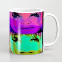 kris tate Mugs featuring Sharon Tate by Joe Ganech