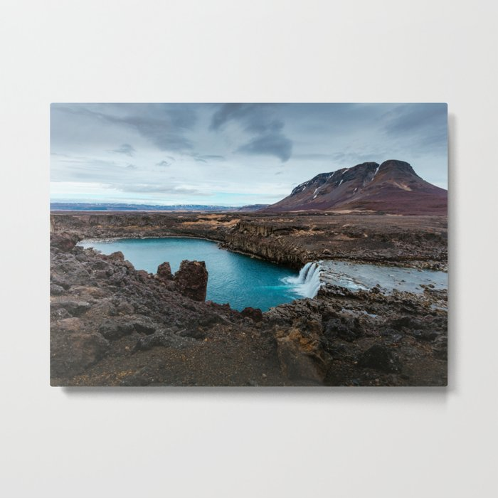 Lake Mountain sky blue Metal Print