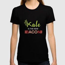 Kale is the new Bacon Kale Art for Vegans on Diet Dark T-shirt
