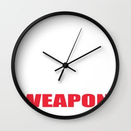 Choose Your Weapon Kitchen Knife Chef Gift Wall Clock