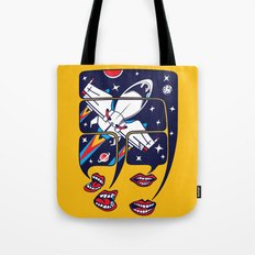 Let's talk about spaceships Tote Bag