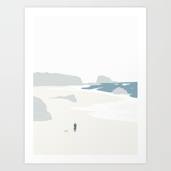 GÅ PÅ STRANDEN Kunstdrucke