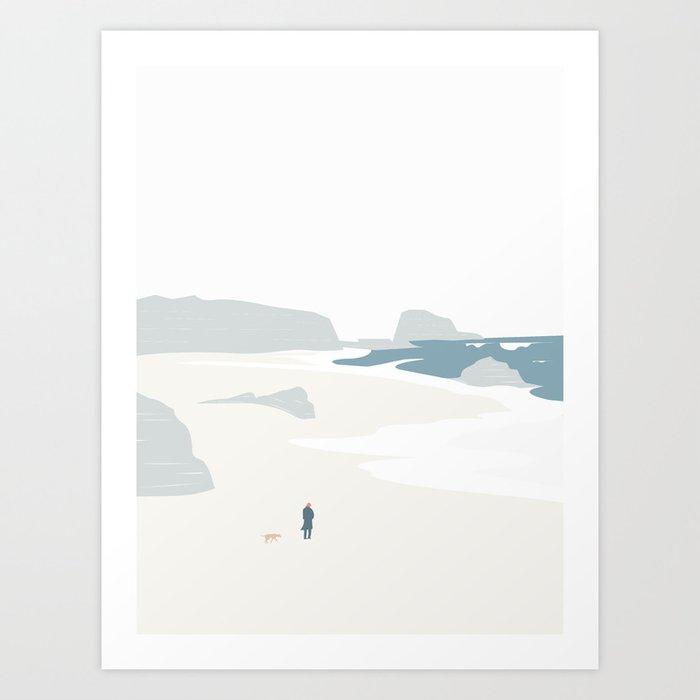 GÅ PÅ STRANDEN Art Print