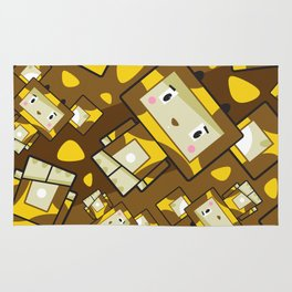 Cute Cartoon Blockimals Giraffe Pattern Rug