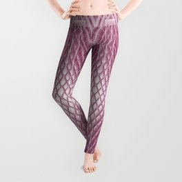 Icy Pink Frosted Geometric Relief Design Leggings
