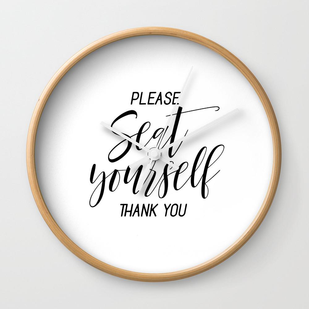 Printable please seat yourself thank you wall art funny bathroom wall art prints wall clock