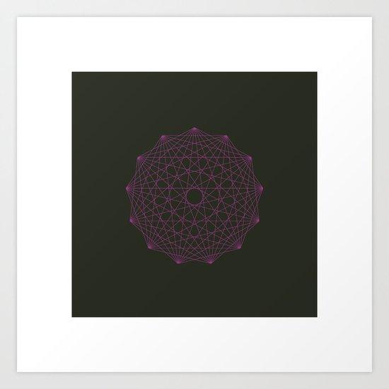 #358 Thirteen pointed star – Geometry Daily Art Print