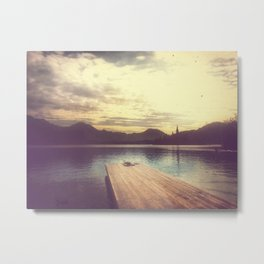 Bled In Gold Metal Print