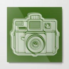 I Still Shoot Film Holga Logo - Reversed Green Metal Print