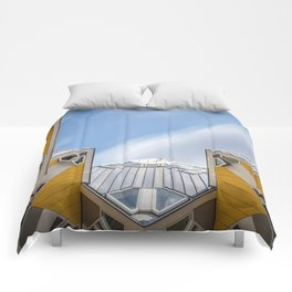 Cube houses in Rotterdam Comforters