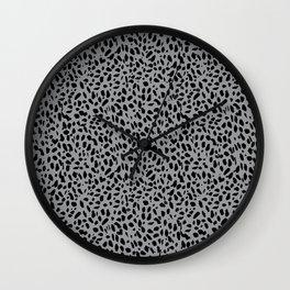Leopard + Heart in Snow Leopard Wall Clock