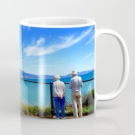 Old Loves Watching the Waves Coffee Mug