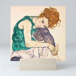 "Egon Schiele ""Seated Woman with Legs Drawn Up"" Mini Art Print"
