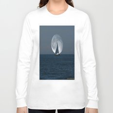 Sailing with a Romance Moon Long Sleeve T-shirt