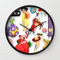 katamari Wall Clocks featuring Katamari Characters by Lil' UFO!