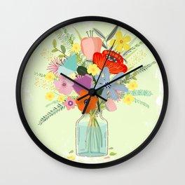 Bringing Summer Wildflowers Inside Wall Clock