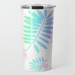 Tropical Pink Flamingos Travel Mug
