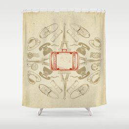 The Suitcase Shower Curtain