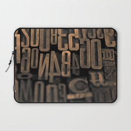 Movable Type 01 Laptop Sleeve