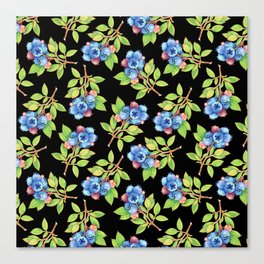 Wild Blueberry Sprigs Canvas Print