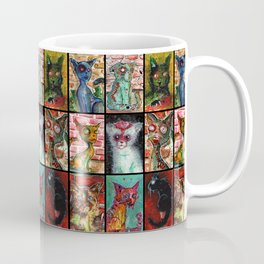9 Zombie Cats version 2 Coffee Mug