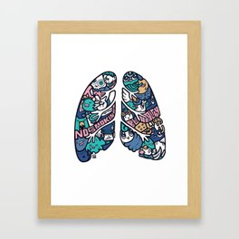 HAI - LUNG Framed Art Print