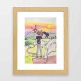 A World of Books Framed Art Print
