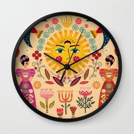 Folk Art Inspired By The Fabulous Frida Wall Clock