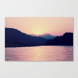 Romantic Pastel Pink Sunset #1 #art #society6 Canvas Print
