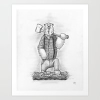 What he does in the woods is his business. Art Print