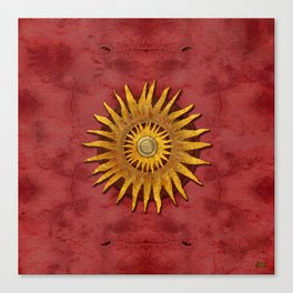 """""""Aztec Sun and pickled coral"""" Canvas Print"""