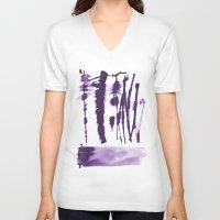 the strokes V-neck T-shirts featuring Decorative strokes by Ioana Avram