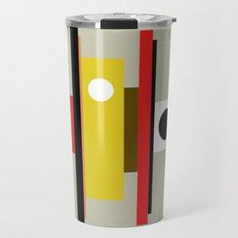 Mid Century Geometric Art Design Travel Mug