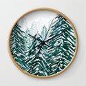 snowy pine forest in green by colorandcolor