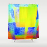 techno Shower Curtains featuring Techno-Color by 2nkenn