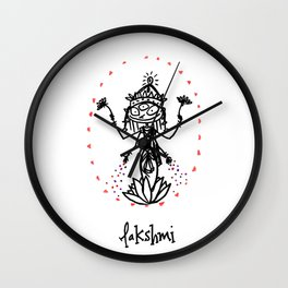 Lakshmi: Goddess of Abundance Wall Clock
