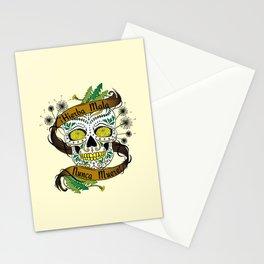 Hierba Mala Nunca Muere Sugar Skull Stationery Cards