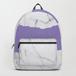Elegant violet gray white modern marble pattern Backpack