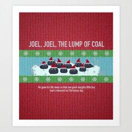 Lump of Coal / Christmas Sweater Art Print