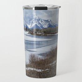 Grand Tetons from Oxbow Bend Travel Mug