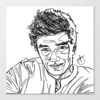 liam payne Canvas Prints featuring Liam Payne by Hollie B