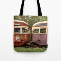 bender Tote Bags featuring Fender Bender by Michael G. Mitchener