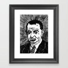 36. Zombie Lyndon B. Johnson Framed Art Print