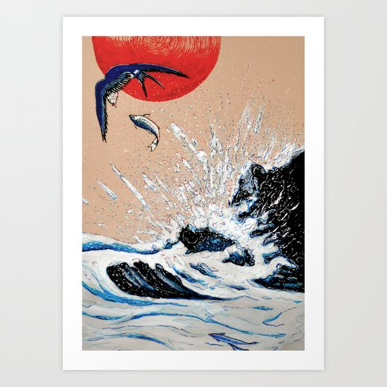 Japan Wave  Art Print
