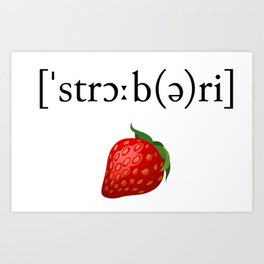 Strawberry Phonetic Art Print