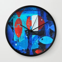 Anchor fish Wall Clock