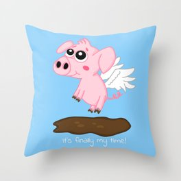 When Pigs Fly in the Year of the Pig Throw Pillow